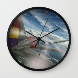 Dogfight Wall Clock