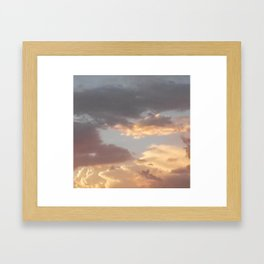 Sweet Summer Sky (Stoner Camo) Framed Art Print