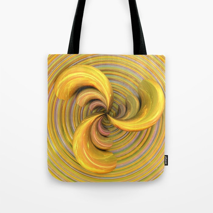 Golden Ribbons Tote Bag