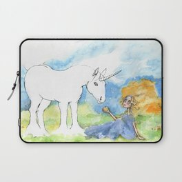 Color your own unicorn Laptop Sleeve
