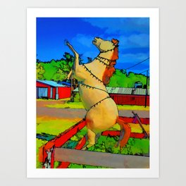 Horse statue  Art Print