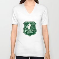 gondor V-neck T-shirts featuring The Prancing Pony Sigil by Nxolab