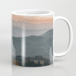 Hazy Mountains - Landscape and Nature Photography Coffee Mug