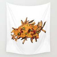 fries Wall Tapestries featuring Chili Cheese Fries by Sam Luotonen