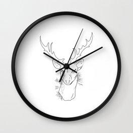 hipster dear Wall Clock