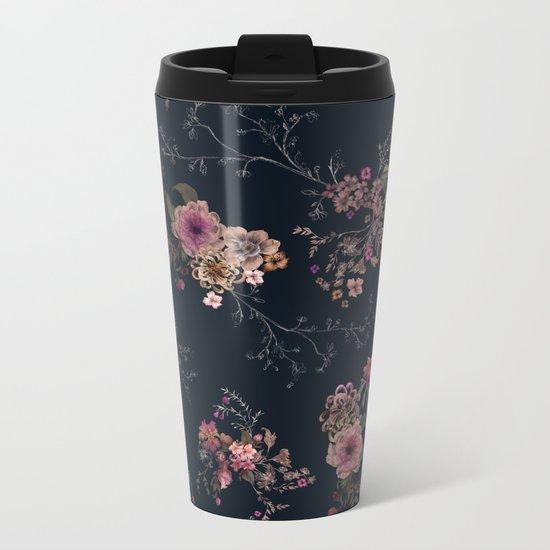 Japanese Boho Floral Metal Travel Mug