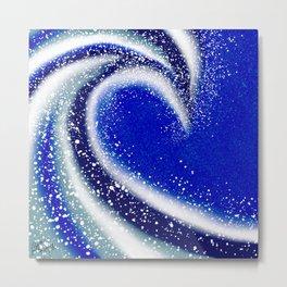 Blue Wave Metal Print