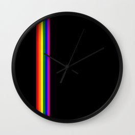 gay flag on white background Wall Clock