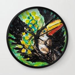Toucan in flight Wall Clock