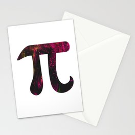 Abstract Planet Surface Oil Pi Day Stationery Cards