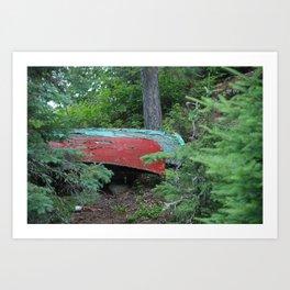 Two Canoes at Gordon Island Art Print