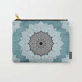 Dream Weaver Bohemian Mandala Black Blue White Carry-All Pouch