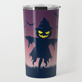 Scarecrow Happy Halloween Travel Mug