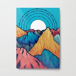 The rocky peaks Metal Print