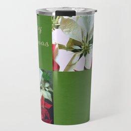 Mixed color Poinsettias 1 Merry Christmas Q5F1 Travel Mug