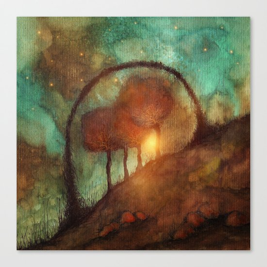Track 28: Sunset and Dreams II Canvas Print