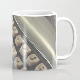 Closeup of vintage typewriter keys Coffee Mug