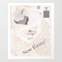 White Collage (unburnt) Art Print