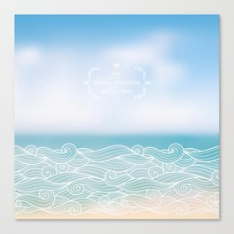 My personal sea Canvas Print