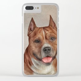 Funny American Staffordshire Terrier Clear iPhone Case