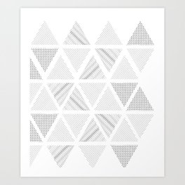 Triangle Hatching Pattern Art Print