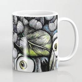 Skulls and Chrysanthemums Coffee Mug