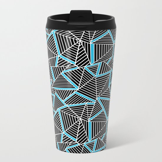 Ab 2 Repeat Blue Metal Travel Mug