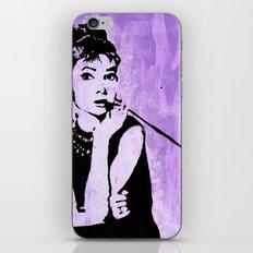 Audrey in Purple iPhone & iPod Skin