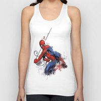 spider man Tank Tops featuring Spider-Man  by Isaak_Rodriguez