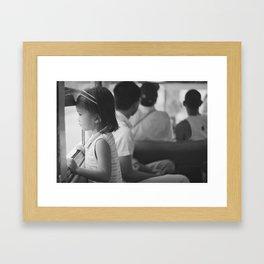 Girl in jeepney, 2013. Framed Art Print