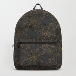 Black Gold Spider Webs Backpack