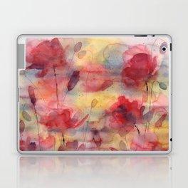 Poppies, watercolor artwork (nature) Laptop & iPad Skin