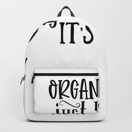 Tote Bag Design Organic Food Just Kidding It's Wine Bag Backpack