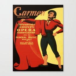 Vintage poster - Carmen Canvas Print
