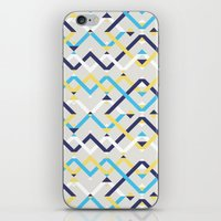 navy iPhone & iPod Skins featuring Navy by La Señora