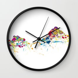 MOUNT MYTHEN MOUNTAINSPLASH color Wall Clock