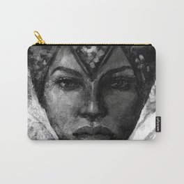 Vivienne black and white Carry-All Pouch