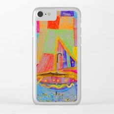 When an umbrella transforms into a boat on Christmas night Clear iPhone Case