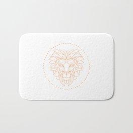 Geometric Lion Bath Mat
