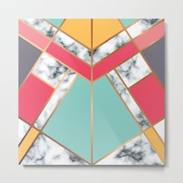 Geometry Gold 020 Metal Print