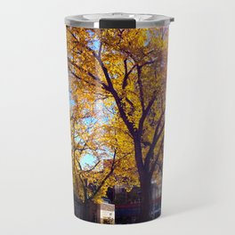 Sir Winston Churchill Square Fall Elms Travel Mug