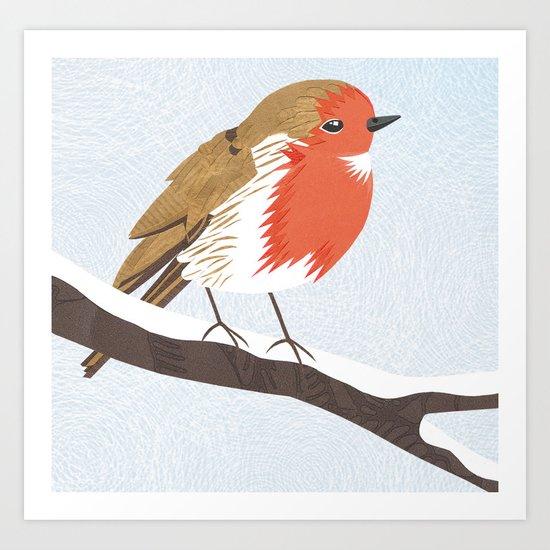 Robin. Art Print