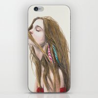wind iPhone & iPod Skins featuring The Wind by Carlos ARL