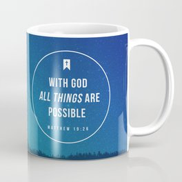 Matthew 19:26 Coffee Mug