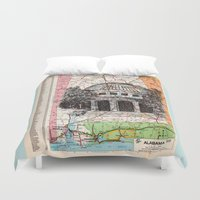 alabama Duvet Covers featuring Alabama by Ursula Rodgers