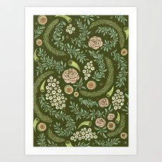 Spring Walk Floral Art Print
