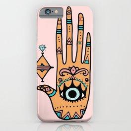 hand eye palm print iPhone Case