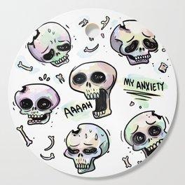 Anxiety Skulls Cutting Board