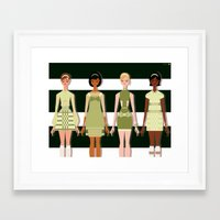 60s Framed Art Prints featuring Mod 60s by Niki Sauter