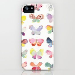 Painted butterflies iPhone Case